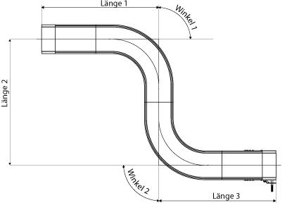 Technische Zeichnung S-Förmiges Band