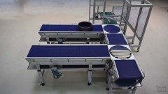 Gezeigt wird eine Förderstrecke aus dem Hause IPM Industrieprodukte Meißner GmbH.